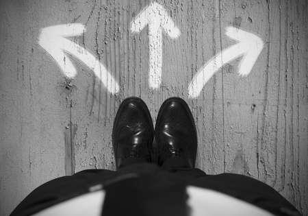 キャリア: ビジネスマンの選択肢の概念 写真素材