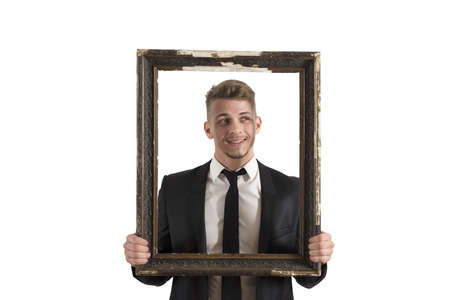 framed picture: Concept of classification in work and business