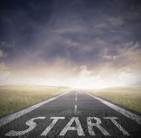 strategie: Konzept der Start-Gerade f�r Unternehmen