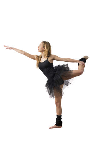 Concept of dancer on white background Stock Photo - 17885055