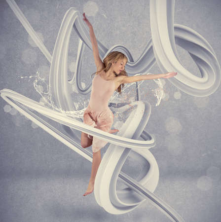 Concetto di ballerina con effetto movimento photo