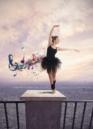 Dancer concept with  motion effect