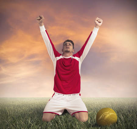 Concept of victory in a football match Stock Photo - 18175547