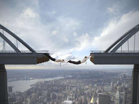 Business concept van zakenman overwinnen van de problemen Stockfoto