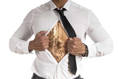 Concept of cyber  hero Stock Photo - 18295725