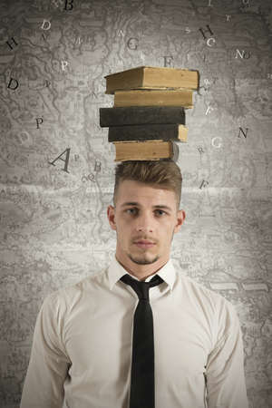 Concept of stress in the study photo