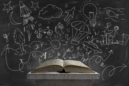 educacion gratis: Concepto de la imaginaci�n leyendo un libro