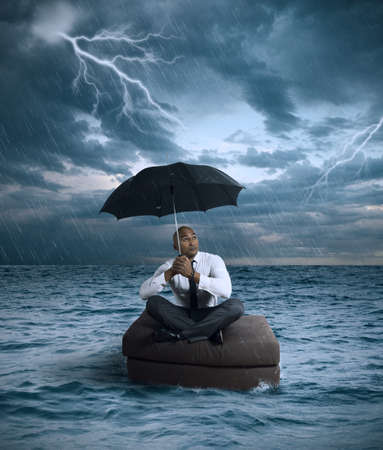 Concept of crisis and difficulty in the business Stock Photo - 18381194