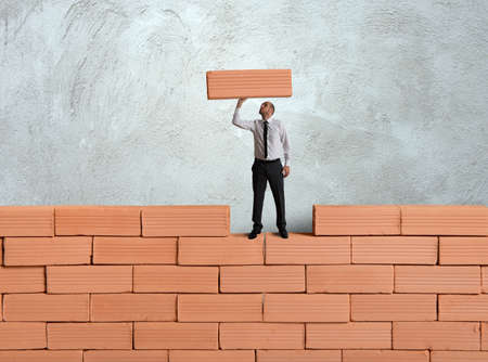Concept van het bouwen van een nieuw bedrijf Stockfoto