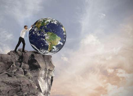Konzept der Zerstörung der Welt Standard-Bild