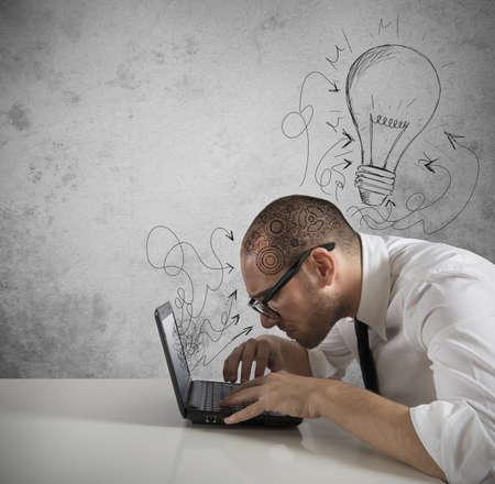create idea: Concept of a great idea of a businessman