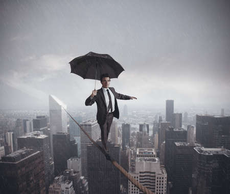 crazy: Concept of risks and challenges of business life Stock Photo