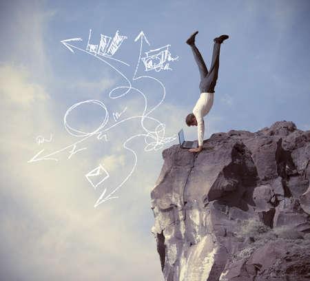 Konzept der Risiken und Herausforderungen des Geschäftslebens