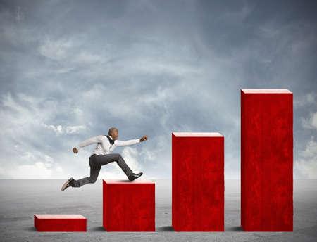 성장: 사업을 실행하는 사업에 경쟁의 개념 스톡 사진