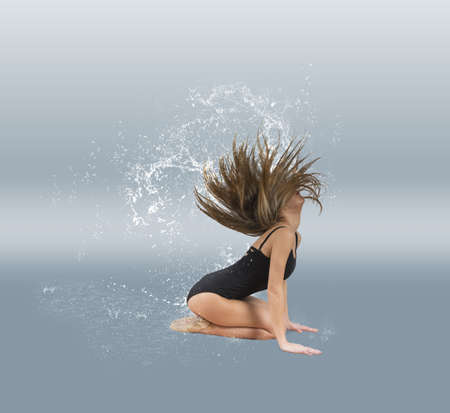 Dancer with water drop in the hair Stock Photo - 18595590