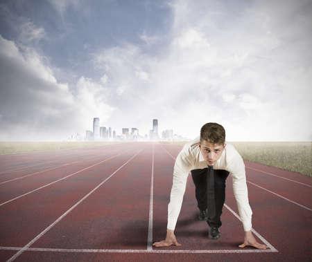 ビジネスでの競争の概念 写真素材