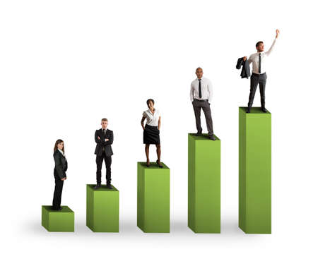 sales executive: Concept of positive statistics trend of a team