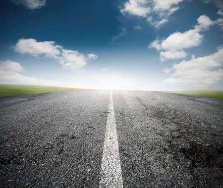 empezar: Concepto del camino para el éxito
