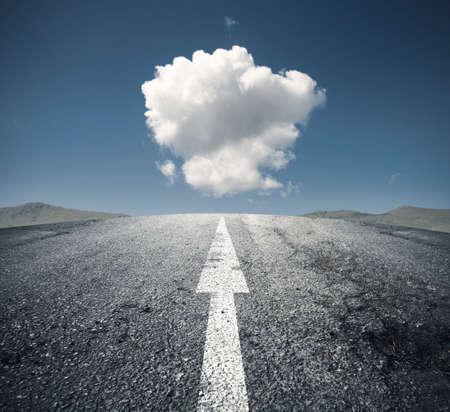 vision futuro: Concepto de seguir el camino correcto Foto de archivo