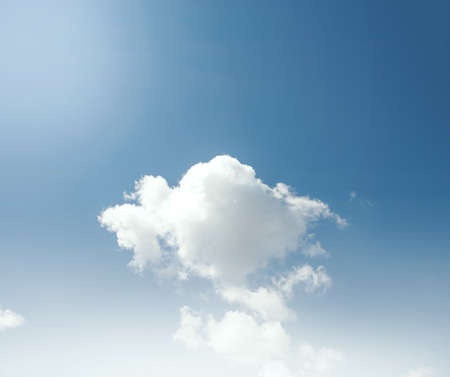 A white cloud in the sky Stock Photo - 18980087