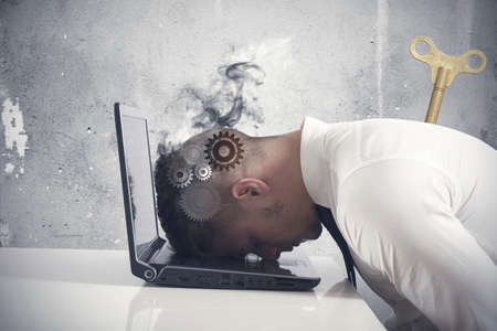 Concept of stress and difficulty in business Stock Photo - 19248784