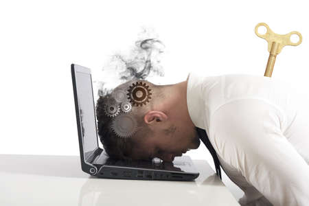 Concept of stress and difficulty in business photo
