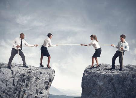 競技会: チームとビジネスでの競争の概念 写真素材