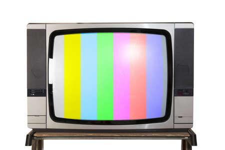 Test signal display on a retro tv Stock Photo - 19289587