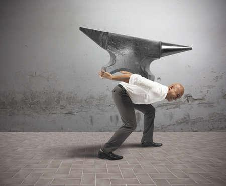 Concept de carrière difficile en affaires Banque d'images