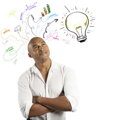 Concept of creative business of a businessmsn Stock Photo - 19248769