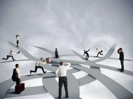 Concept van de verwarring en zakelijke carrière