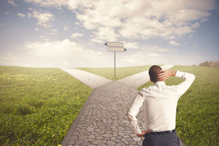 business change: The right destination of a businessman