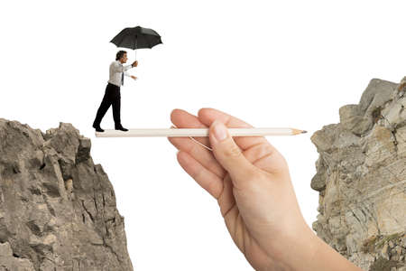 risky job: Concept of help in your business