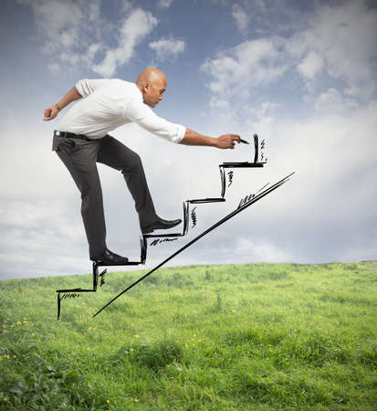 Loopbaan en kansen concept van een zakenman
