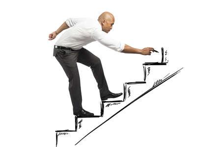inspiratie: Loopbaan en kansen concept van een zakenman