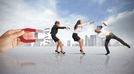 Concept van het vastleggen van mensen met marketing Stockfoto