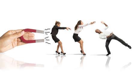 mágnes: Fogalma elfog emberek marketing Stock fotó