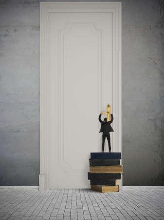 Concept van de grote kans in het bedrijfsleven Stockfoto