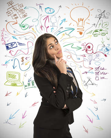 create: Creative business idea of a young businesswoman