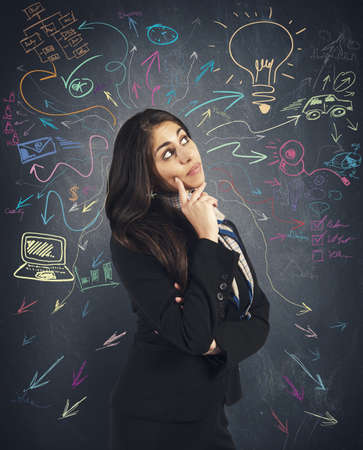 Creative business idea of a young businesswoman photo