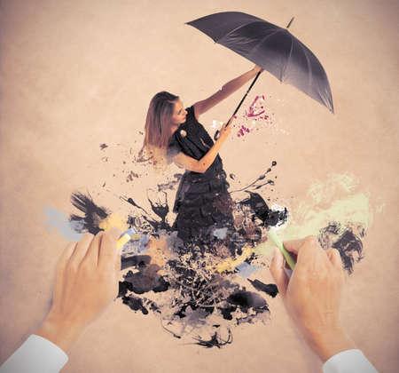 color image creativity: Dibujo a mano un nuevo estilo de moda