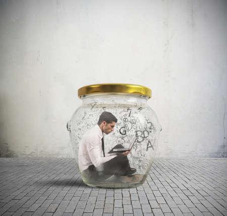 Concept de dépendance nerd et internet Banque d'images - 21139611