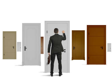 Concept of opportunity of a businessman photo