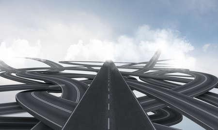 Concept van de straat verwarring en bijstand van GPS
