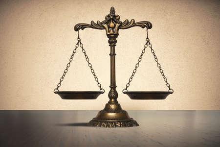 Evenwicht concept van recht en justitie Stockfoto