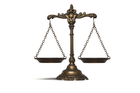 law symbol: Balance concept of law and justice