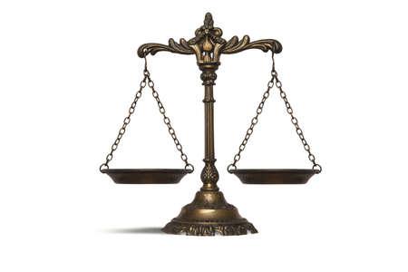 balanza en equilibrio: Concepto del balance de la ley y la justicia Foto de archivo