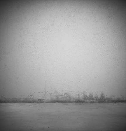 Empty gray dark vintage room background Stock Photo - 21739801