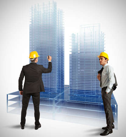 Architect and project of modern buildings Stock Photo - 21694753
