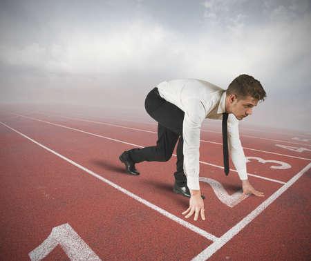 競技会: ビジネスマンの競争を開始する準備ができて